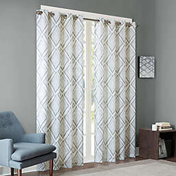 INK+IVY Bas Printed Etched Diamond Window Curtain Panel