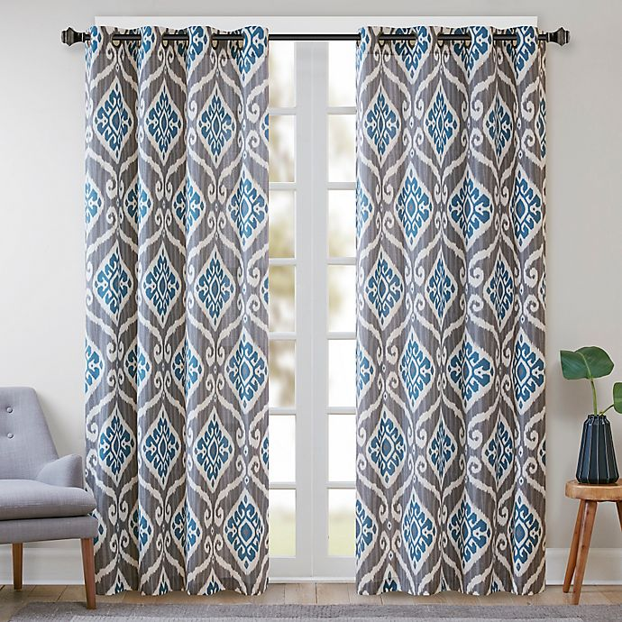 Alternate image 1 for Madison Park Nadie 84-Inch Window Curtain Panel in Blue