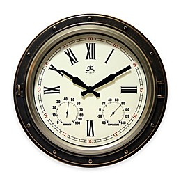 "Infinity Instruments 16"" All-Weather Outdoor Clock"