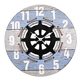 LaCrosse Technology 24-Inch Coastal Wall Clock in Blue/White