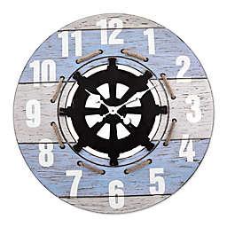 LaCrosse Technology Coastal Wall Clock in Blue/White