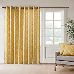 Madison Park Saratoga 84-Inch Grommet Top Patio Door Window Curtain Panel in Yellow