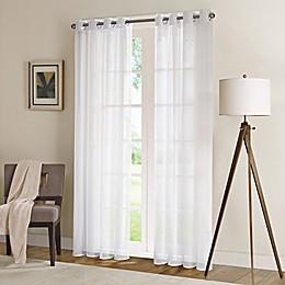 Madison Park Wynn Sheer Window Curtain Panel in White