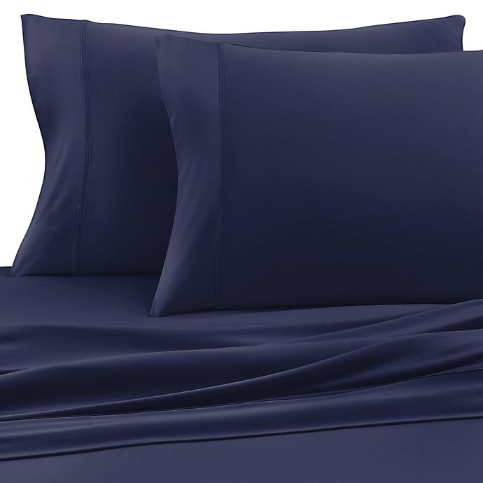 Alternate image 1 for SHEEX® Wool Tech™ Twin Sheet Set in Navy