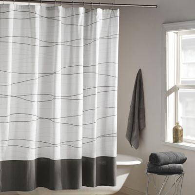 Dkny Wavelength Shower Curtain In Grey Bed Bath And