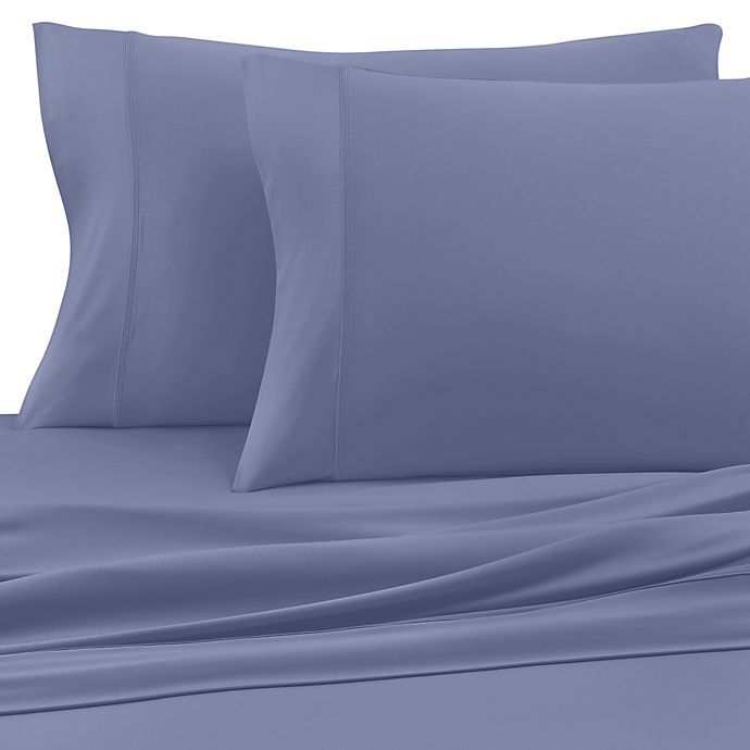 Alternate image 1 for SHEEX® Wool Tech™ Twin Sheet Set in Denim