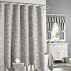 J. Queen New York™ Colette 72-Inch x 72-Inch Shower Curtain in Silver