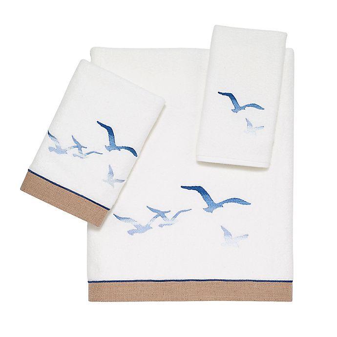 Alternate image 1 for Avanti Seagulls Hand Towel in White