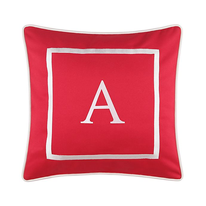 Alternate image 1 for Monogram 17-Inch Outdoor Pillow in Salsa