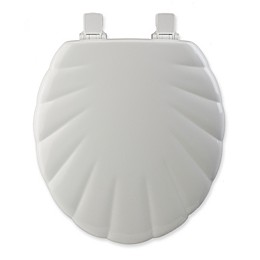 Mayfair® Easy-Clean & Change™ Wide Round Toilet Seat in White Shell