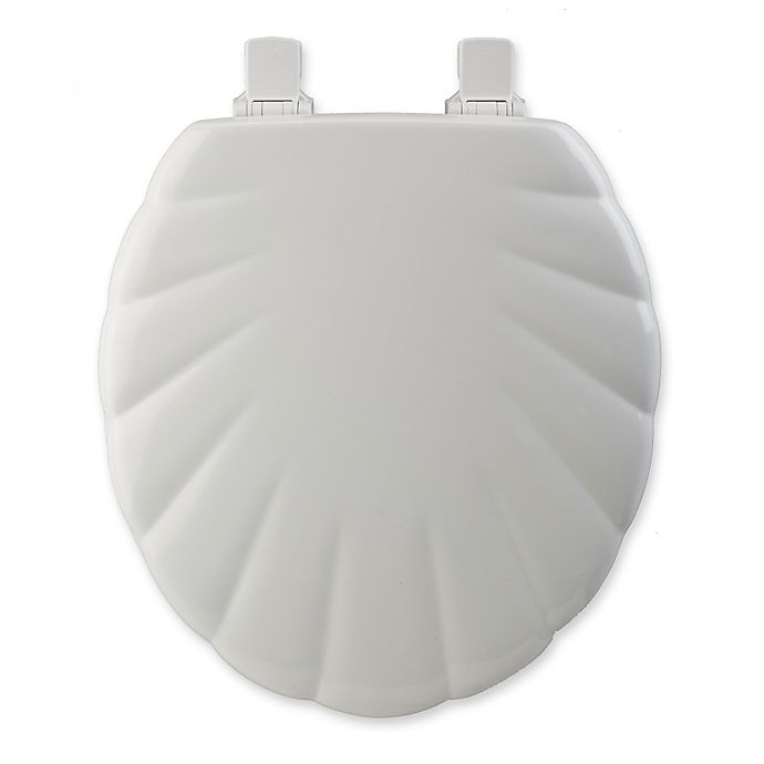 Alternate image 1 for Mayfair® Easy-Clean & Change™ Wide Round Toilet Seat in White Shell