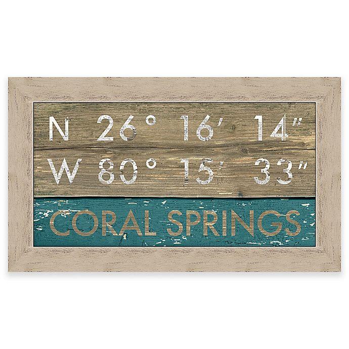 Coral Springs, Florida Coordinates Framed Wall Art