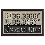 Johnson City, Tennessee Coordinates Framed Wall Art