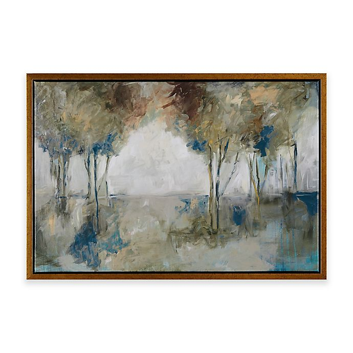 Alternate image 1 for Madison Park Muted Trees At Dusk Framed Canvas Wall Art