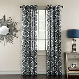 Corona Campbell 84-Inch Grommet Top Sheer Window Curtain Panel in Ivory (Single)