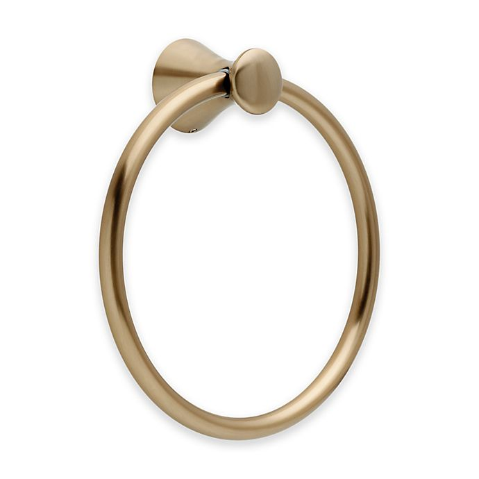 Alternate image 1 for Delta Lahara Towel Ring in Champagne Bronze