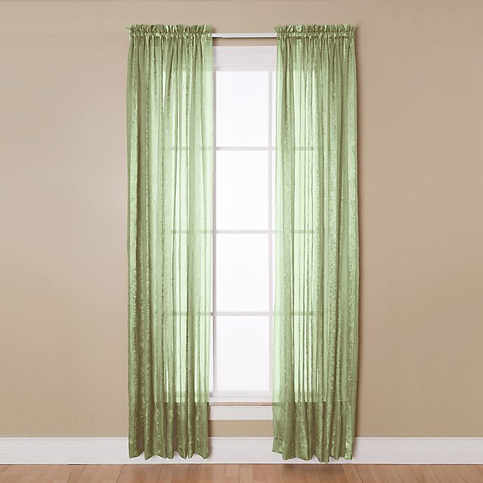 Alternate image 1 for Aria 84-Inch Rod Pocket Sheer Window Curtain Panel in Sage