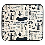 Schroeder & Tremayne The Original™ Dish Drying Mat with California Print in Cream/Black