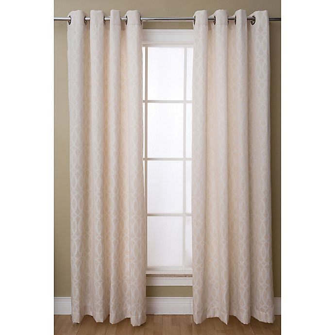 Alternate image 1 for Caitlin 84-Inch Grommet Top Window Curtain Panel in White