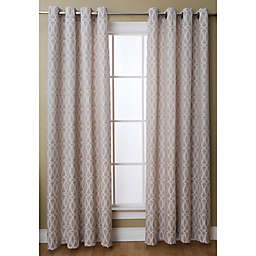 Caitlin 84-Inch Grommet Top Window Curtain Panel in Taupe