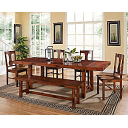 Forest Gate 6inPiece Athena Farmhouse Wood Dining Set in Dark Oak