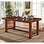 Forest Gate Athena Fmarhouse Wood Dining Table in Dark Oak