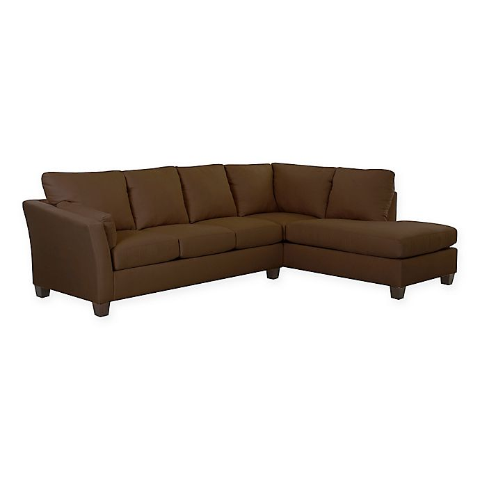 Klaussner® Drew 2-Piece Sectional Sofa With Right Chaise in ...