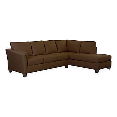 Klaussner® Drew 2-Piece Sectional Sofa With Right Chaise in Microsuede
