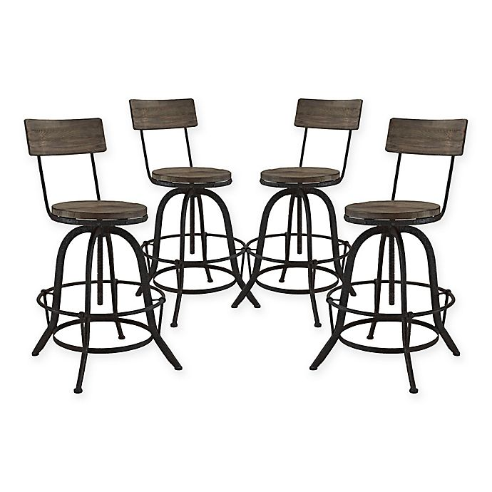 Buy Modway Procure Bar Stool In Brown Set Of 4 From Bed