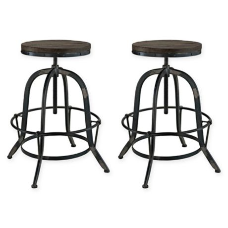 Buy Modway Collect Barstools In Black Set Of 2 From Bed