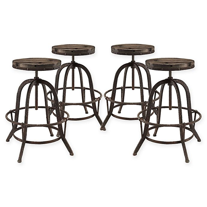 Buy Modway Collect Bar Stool Set Of 4 In Brown From Bed