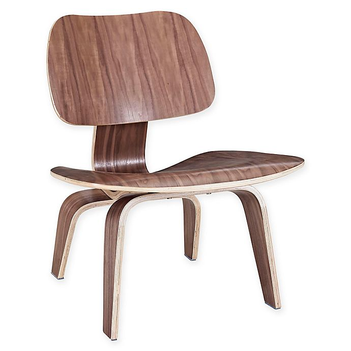 Alternate image 1 for Modway Fathom Lounge Chair in Walnut