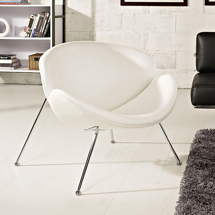 Alternate image 1 for Modway Nutshell Chair in White