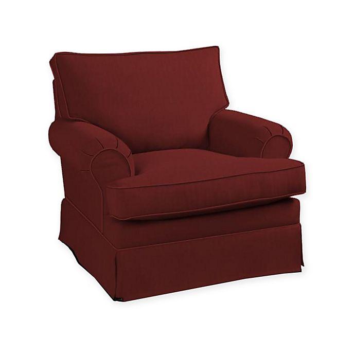 Miraculous Klaussner Carolina Accent Chair In Berry Bed Bath Beyond Machost Co Dining Chair Design Ideas Machostcouk