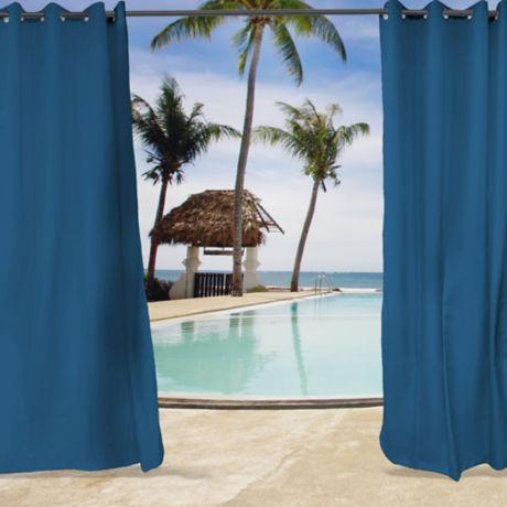 Sunbrella Canvas Grommet Top Indoor Outdoor Curtain Panel Bed Bath Beyond