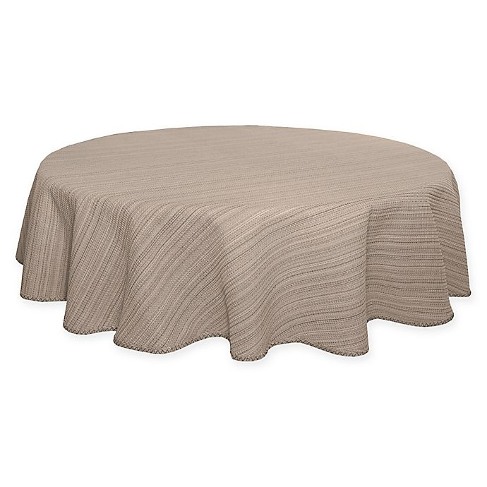 Incredible Terra Woven Lyon 70 Inch Round Tablecloth In Sand Bed Bath Caraccident5 Cool Chair Designs And Ideas Caraccident5Info