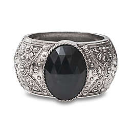Melissa 7.25-Inch Multi Activity Tracker Bracelet in Black Stone