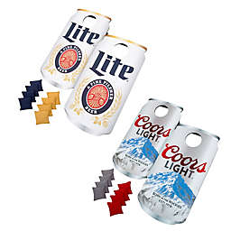 Beer Can Cornhole Bean Bag Toss Game