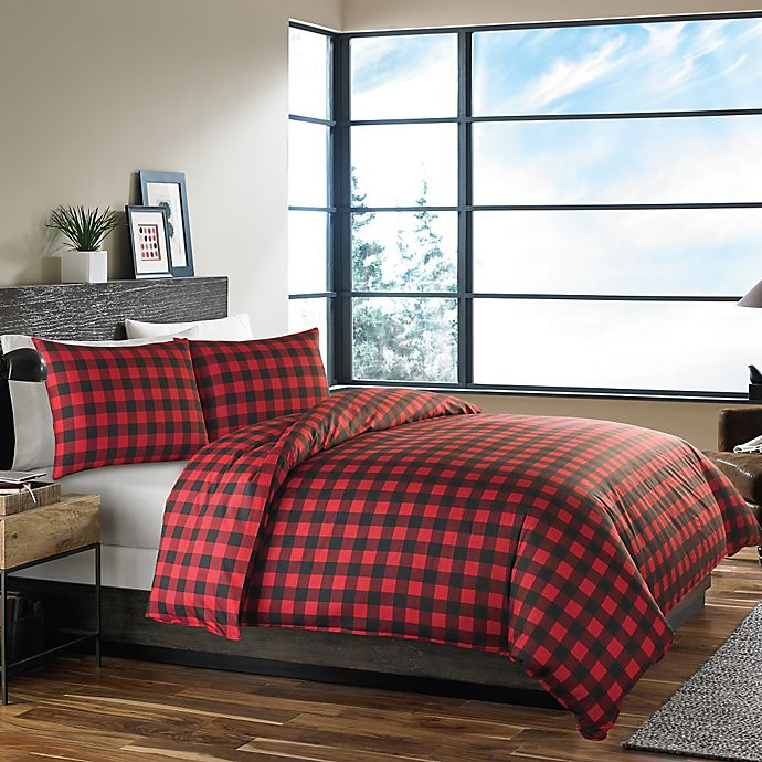 Alternate image 1 for Eddie Bauer® Mountain Plaid Comforter Set in Red