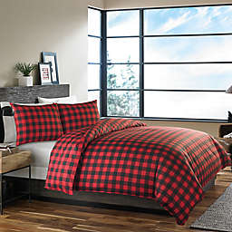 Eddie Bauer® Mountain Plaid Twin Comforter Set in Red