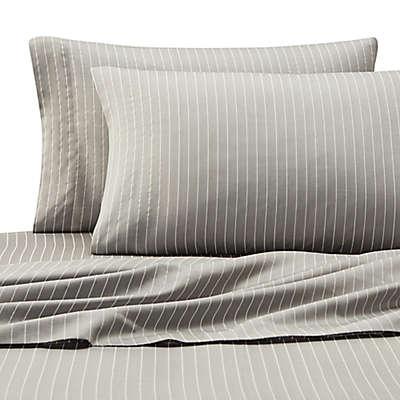 Eddie Bauer® Pinstripe Sheet Set in Grey
