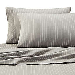 Eddie Bauer® Pinstripe Sheet Set in Grey