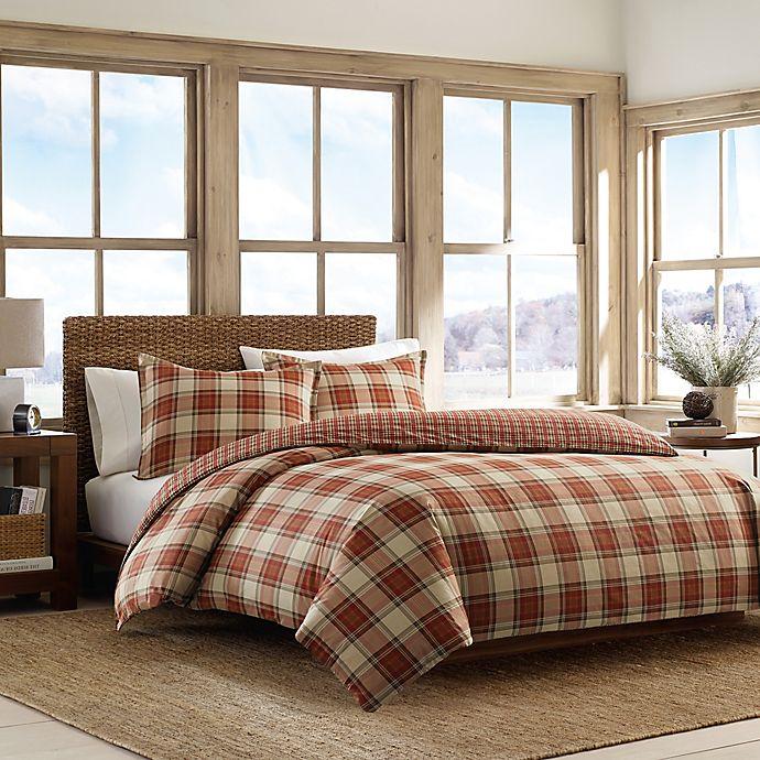 Alternate image 1 for Eddie Bauer® Edgewood Plaid Comforter Set in Red