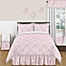 Part of the Sweet Jojo Designs Alexa Bedding Collection in Pink/White