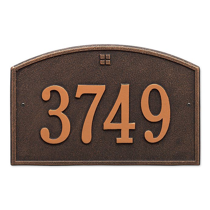 Alternate image 1 for Whitehall Products™ Cape Charles 1- Line Address Plaque in bronze