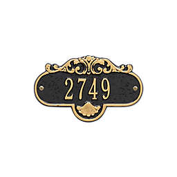 Whitehall Products Rochelle Petite Address Plaque in Black/Gold