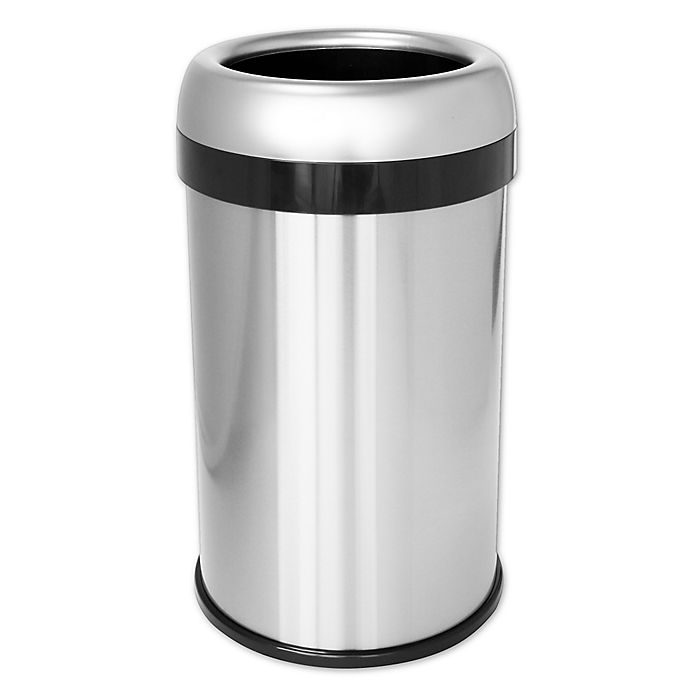 Alternate image 1 for halo™ Dual Deodorizer Open Top Stainless Steel 49-Liter Trash Can