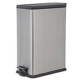 SALT™ 45 Liter Rectangular Slim Step Trash Can