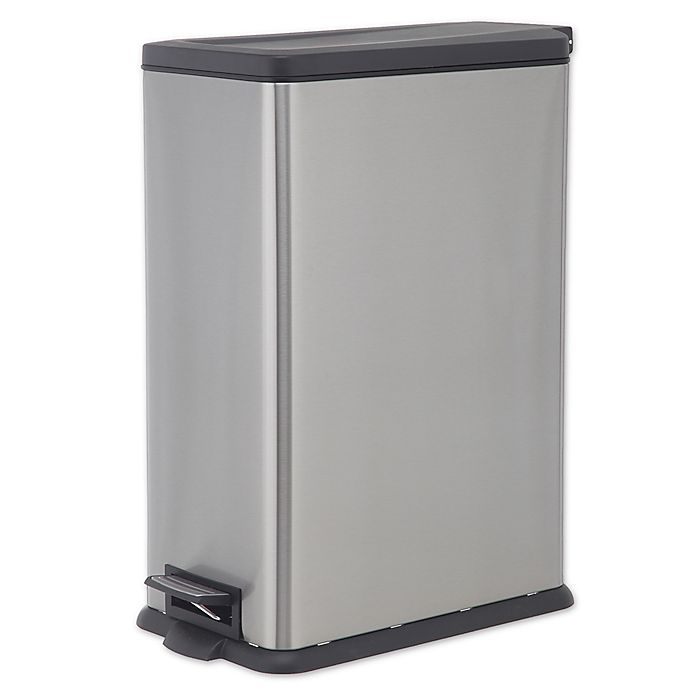 Alternate image 1 for SALT™ 45 Liter Rectangular Slim Step Trash Can