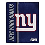 NFL New York Giants Royal Plush Raschel Throw